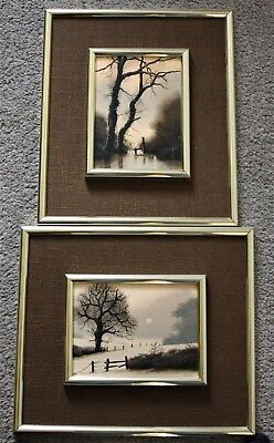 A Pair Of Painting By Michael John Hill , Signed Michael Hill , On Board
