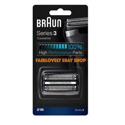 OFFICIAL! BRAUN 21B Replacement Foil and Cutter Cassette For Series 3 Shavers