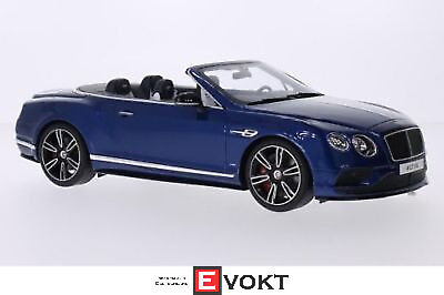 Bentley Continental GT V8 S Convertible, metallic blue, 1:18, GT Spirit