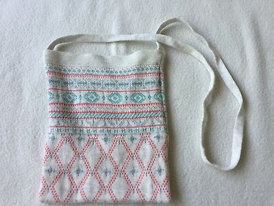 Purebaby Girl's Grey / Beige Fairisle Crossbody Knitted Bag (New without Tag)