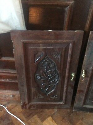Antique Vintage Carved Wooden Panels