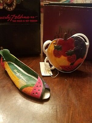 Just The Right Shoe- Fruity With Matching Purse