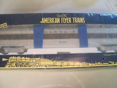 American Flyer Santa Fe Full Vista Dome Blue Stripe 6-49940 MIB