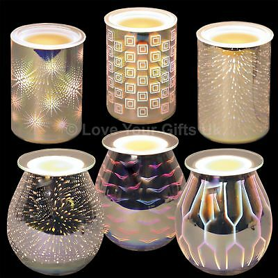 3D Electric Wax Melt Burner 16cm or 13cm High Glass Tart Granules Aromatize