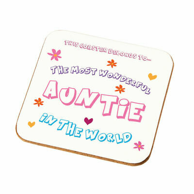 Most Wonderful Auntie Coaster Gift Best Birthday Christmas Present Idea