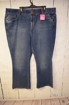 Lane Bryant Bootcut Tighter Tummy Technology T3 jeans size 24 short petite NWT I