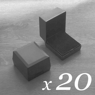 20x Black Gift Jewellery Box Storage Presentation Ring Boxes with Foam Pad