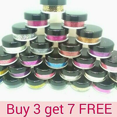 Glitter Pots BUY 5 Get 5 FREE!!! Eye Shadow Lip Temp Tattoo Nail Craft Face Body