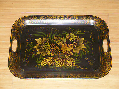 Antique Large Stenciled, Signed Tin Tray NEW LOWER PRICE!!!