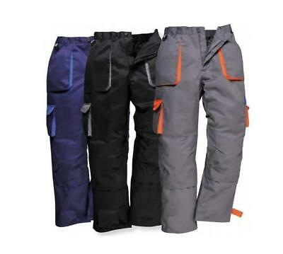 Portwest Texo Contrast Trouser (Lined) Knee Pad Pockets Warm Winter TX16