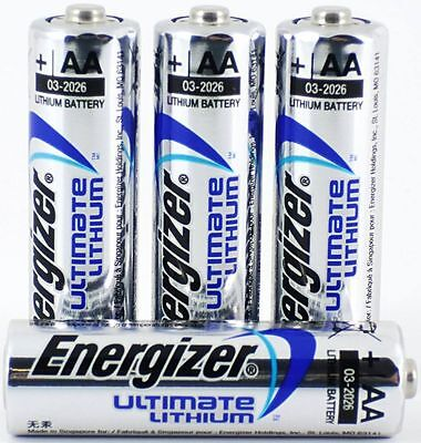 4 x ENERGIZER AA ULTIMATE AA LITHIUM BATTERIES LR6, L91 NEW 1.5v LONG EXPIRY NEW