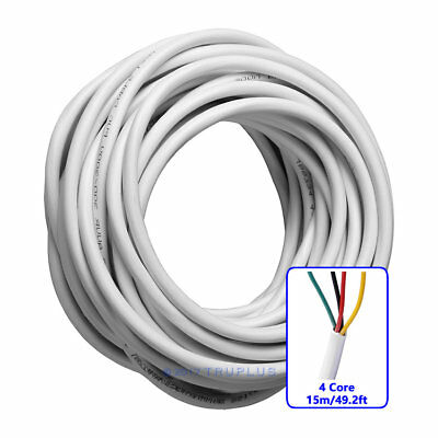 15m/49.2ft 4 Core 0.3mm²  Flexible Copper Cable for Video Door Entry Intercom