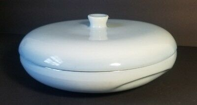 Russel Wright Iroquois Covered Divided Vegetable Bowl Relish Dish Powder Blue