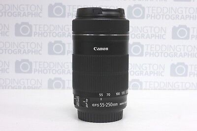 Canon EF-S 55-250mm F/4-5.6 STM IS Lens. Boxed.