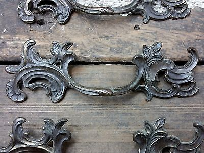 "ONE Vtg Fancy SHABBY Provincial Keeler Brass Pull Handle Drawer Chest 3 1/4"" CC"