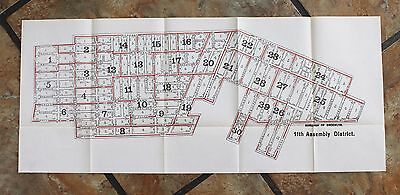 1915 Clinton Hill Crown Heights Brooklyn Map New York Park Ave - Montgomery RARE