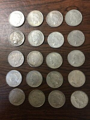 Roll Of 20 1922 Peace Dollar Coins Silver Dollars Peace Dollars Coin APMEX VG-XF