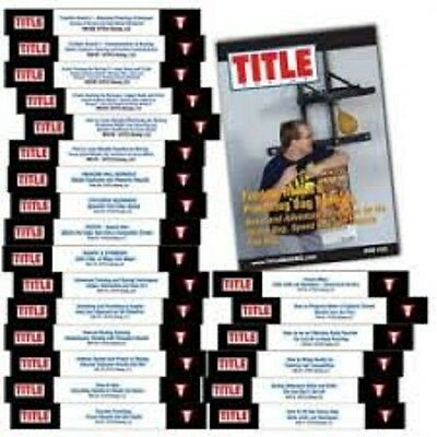 TITLE BOXING TRAINING 23 VOLUMES DVDS coaching instructionals freddie roach