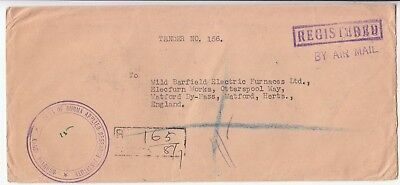Burma: Registered Airmail Cover; Applied Research Institute-Watford, 8 July 1959