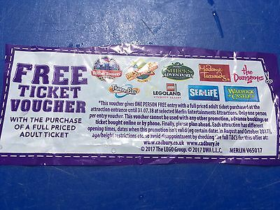 Free Voucher Alton Towers Chessington Legoland Thorpe Park Sealife Centre