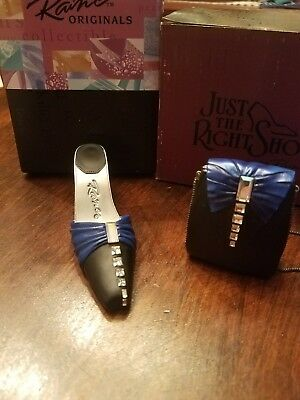 Just The Right Shoe-Midnight Promises With Matching Purse- Coa