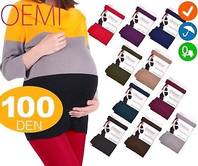 Warm 100 Den Maternity Stockings Microfibre in Colors Maternity S-L