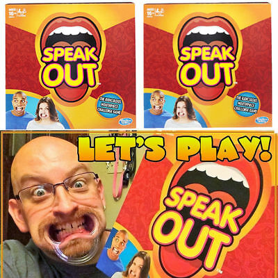 Speak Out Game Board Party Mouth Piece Challenge Family Brand New