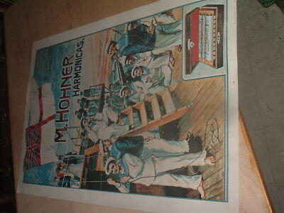 Vintage Hohner Harmonica Sign Poster Wow!!!!
