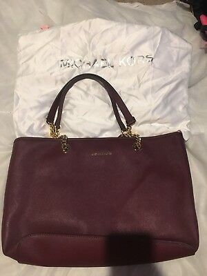 Brand New In Dust Bag Michael Kors Deep Red Chain Tote