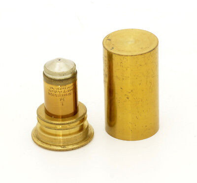 c.19th Swift brass microscope objective lens