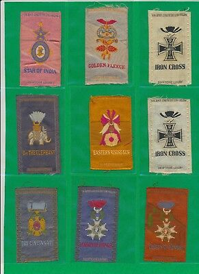 1910 Egyptienne Luxury Cigarettes Silk IRON CROSS MEDAL (MIDDLE ROW)