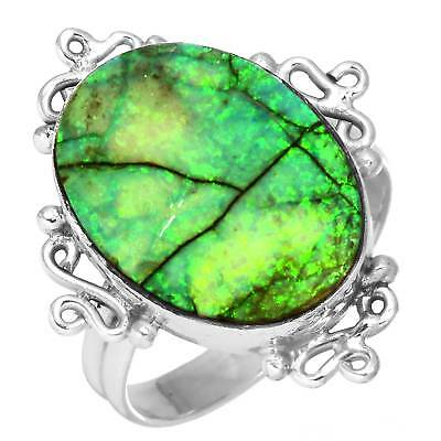Natural Fire Opal Handmade Jewelry Solid 925 Sterling Silver Ring Size 8 Vp25818