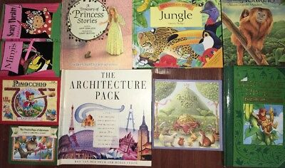 11 Pop-up Popup BOOKS Book Lot Giant Architecture Animals Golden Egg Princess