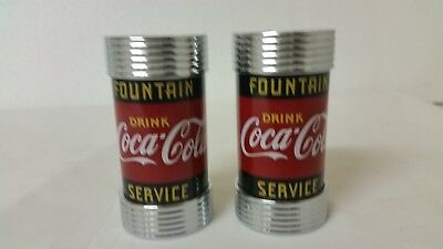 Coca Cola Salt & Pepper Shakers. 1997. Fountain Service Diner Collection.