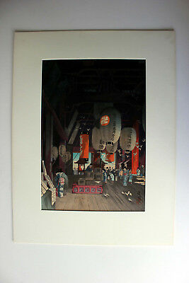 Eisho NARAZAKI original Japanese woodblock print  $1 START