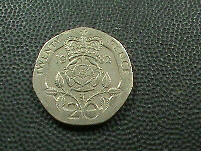 GREAT  BRITAIN      20  Pence    1982   $ 2.99  maximum  shipping  in  USA