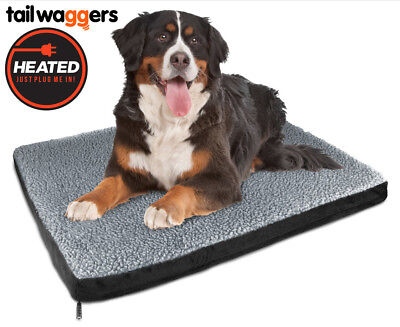 Heated Pet Bed by Tail Waggers - 83x109cm For Large Dogs