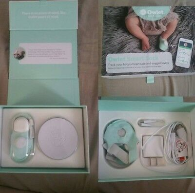 Owlet Smart Sock Gently Used Baby Monitor Complete