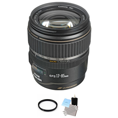 Canon EF-S 17-85mm F/4.0-5.6 IS USM Lens + UV Filter & Cleaning Kit