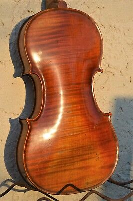 Old French violin 1900s labelled Paul Beuscher
