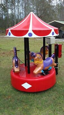 Coin Operated Kiddie Ride, Carousel