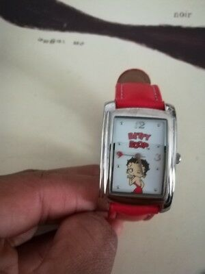 Women's Betty Boop Watch RED leather band