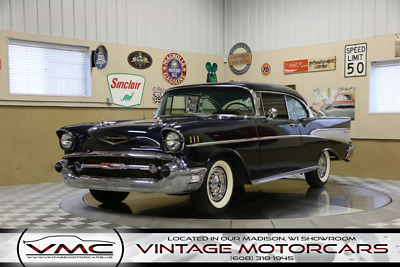 1957 Chevrolet Bel Air/150/210  283 V8 - Automatic - Show Quality - Laser Straight - Beautiful Dark Blue