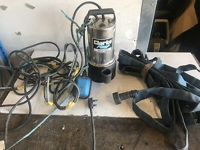 Clarke PSSV2A Stainless Steel Water Submersible Pump 240v