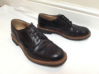 LOAKE England, black leather Brogues / Shoes 8 , Ex. Cond.