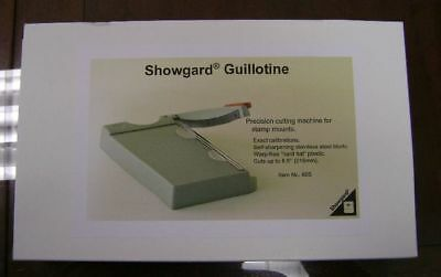 Showgard professional Stamp mount cutter NEW # 605 Large size w/ holding bar