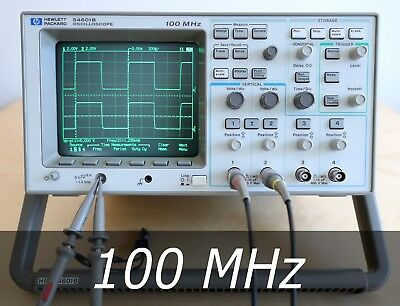 HP / Agilent 54601B 4-channel 100 MHz Oscilloscope + 2 New Probes. Very clean