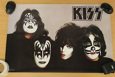 Kiss Poster,  Kiss Original Members In Makeup.