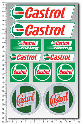 Castrol Racing oils motorcycle car sponsor decals quality stickers Honda