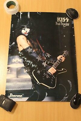 Kiss Poster,  Paul Stanley In Makeup With Guitar.